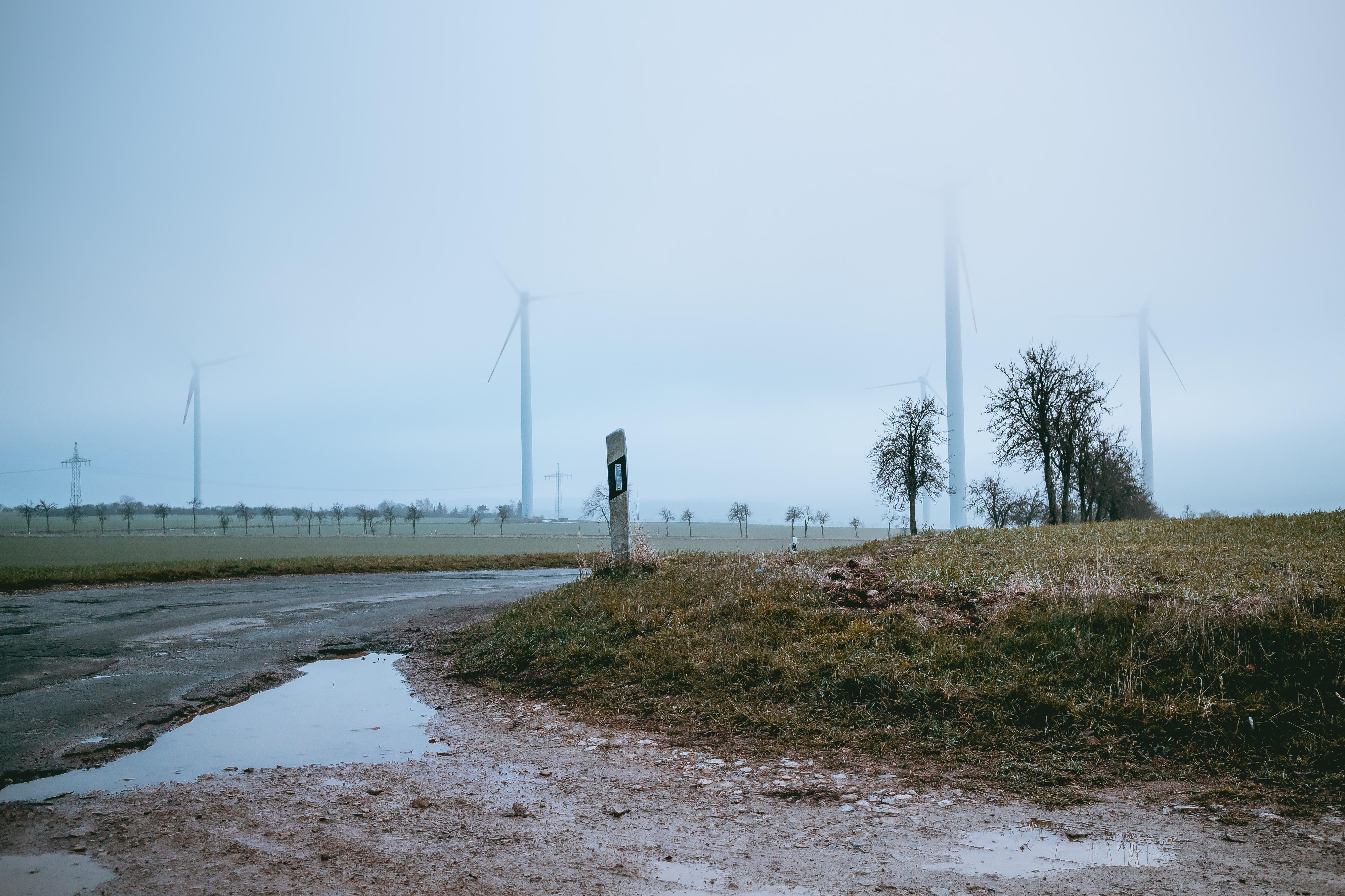 wind turbine vent on grass field