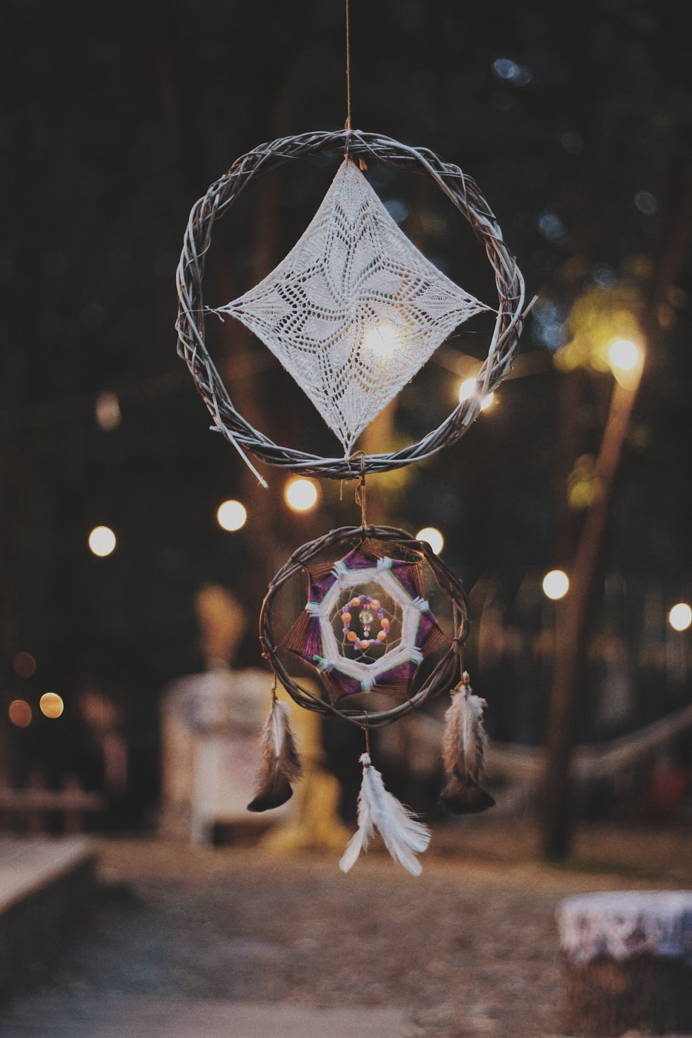 Selective Focus Photography Of Dreamcatcher Photo Free