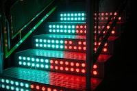 black and red LED light