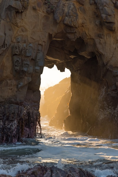 natural arch at the beach