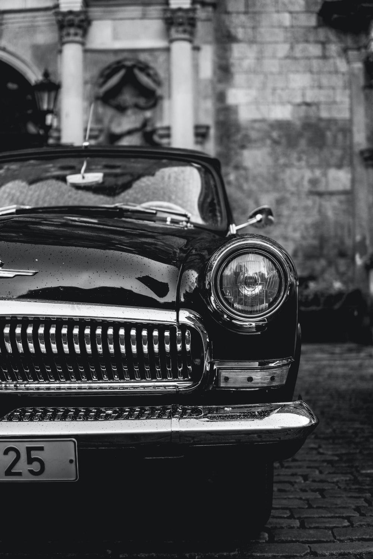 classic black vehicle