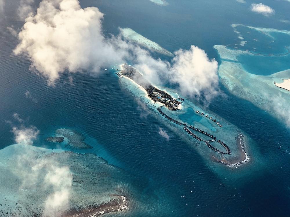 aerial of island