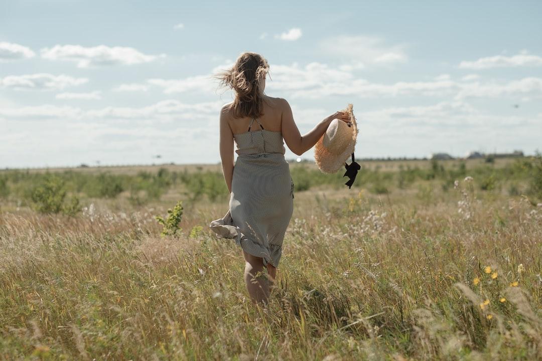 russian italian girl walking in the fields