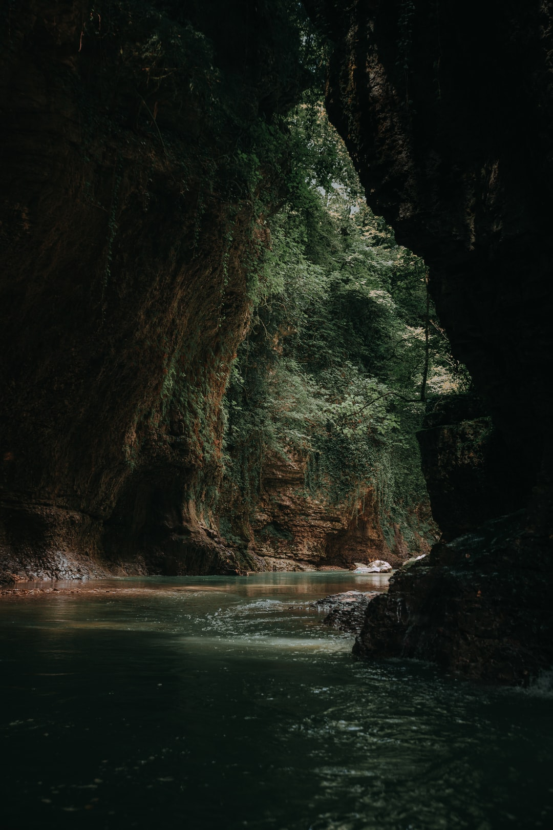 Some deep green mood from Martvili Canyon, located in Semegrelo-Zemo Svaneti province of Georgia.