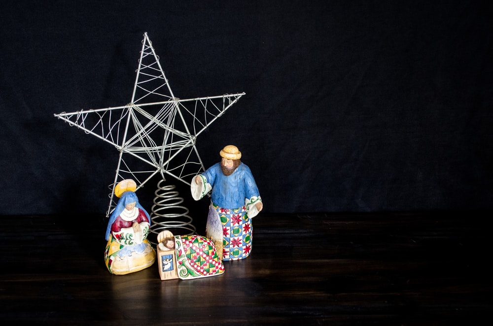 nativity scene figurine set on table
