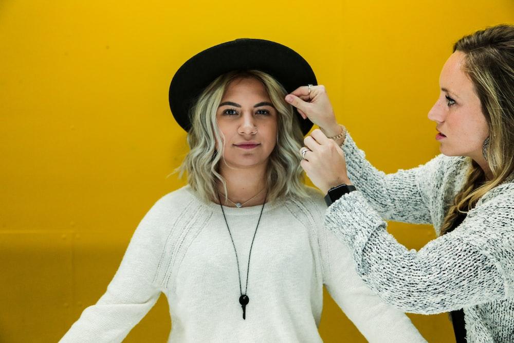 women's gray sweater