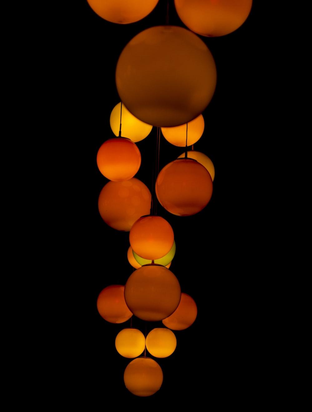 orange paper lanterns