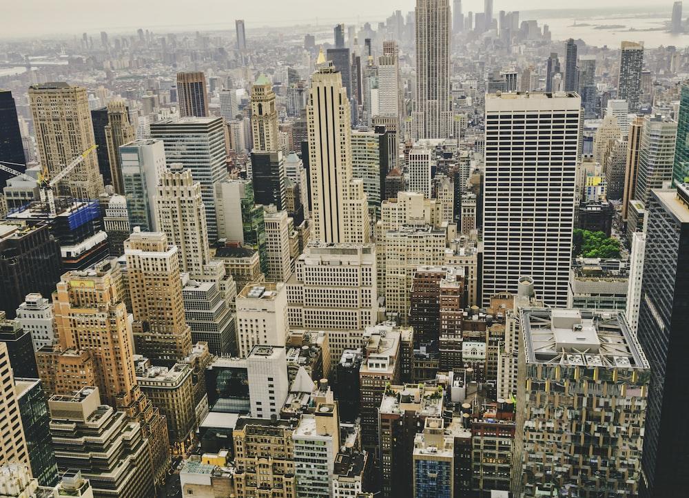 bird's eye photography of high rise buildings