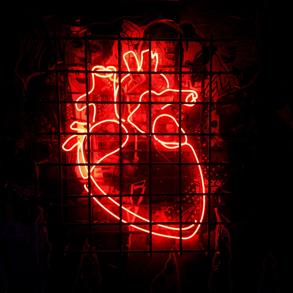 heart neon signage