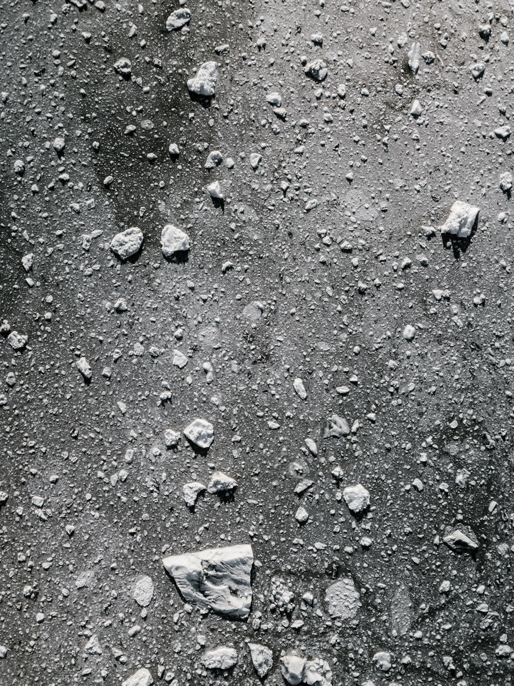 white and black concrete surface