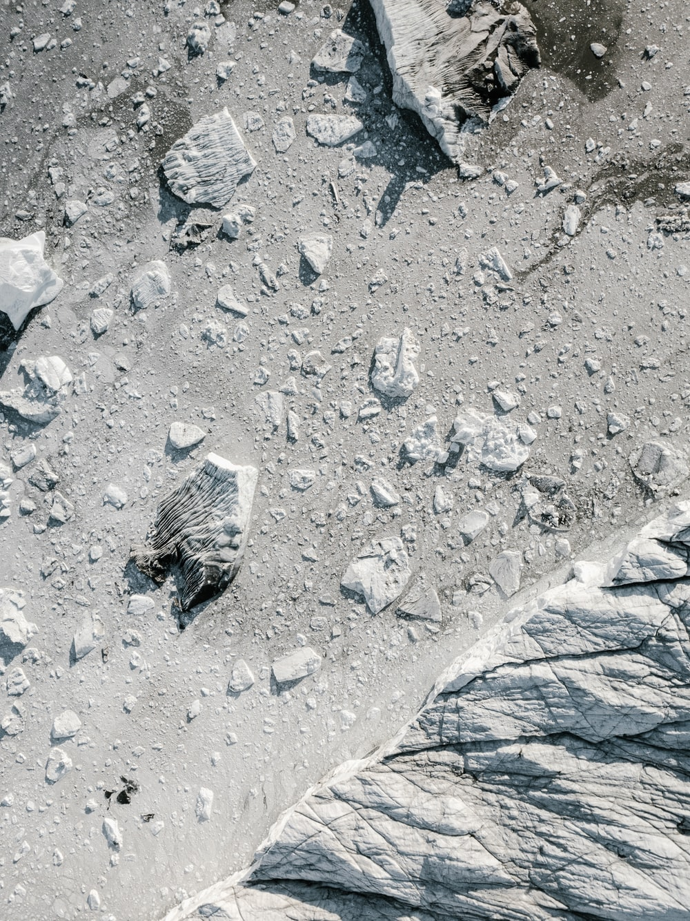 aerial photography of rocks