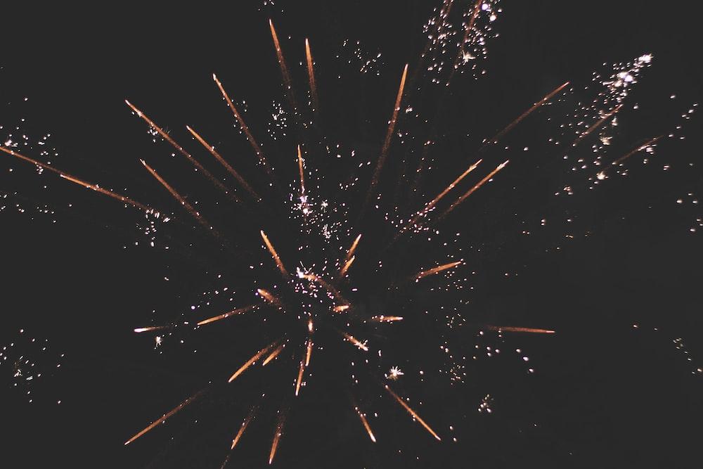 multicolored fireworks display