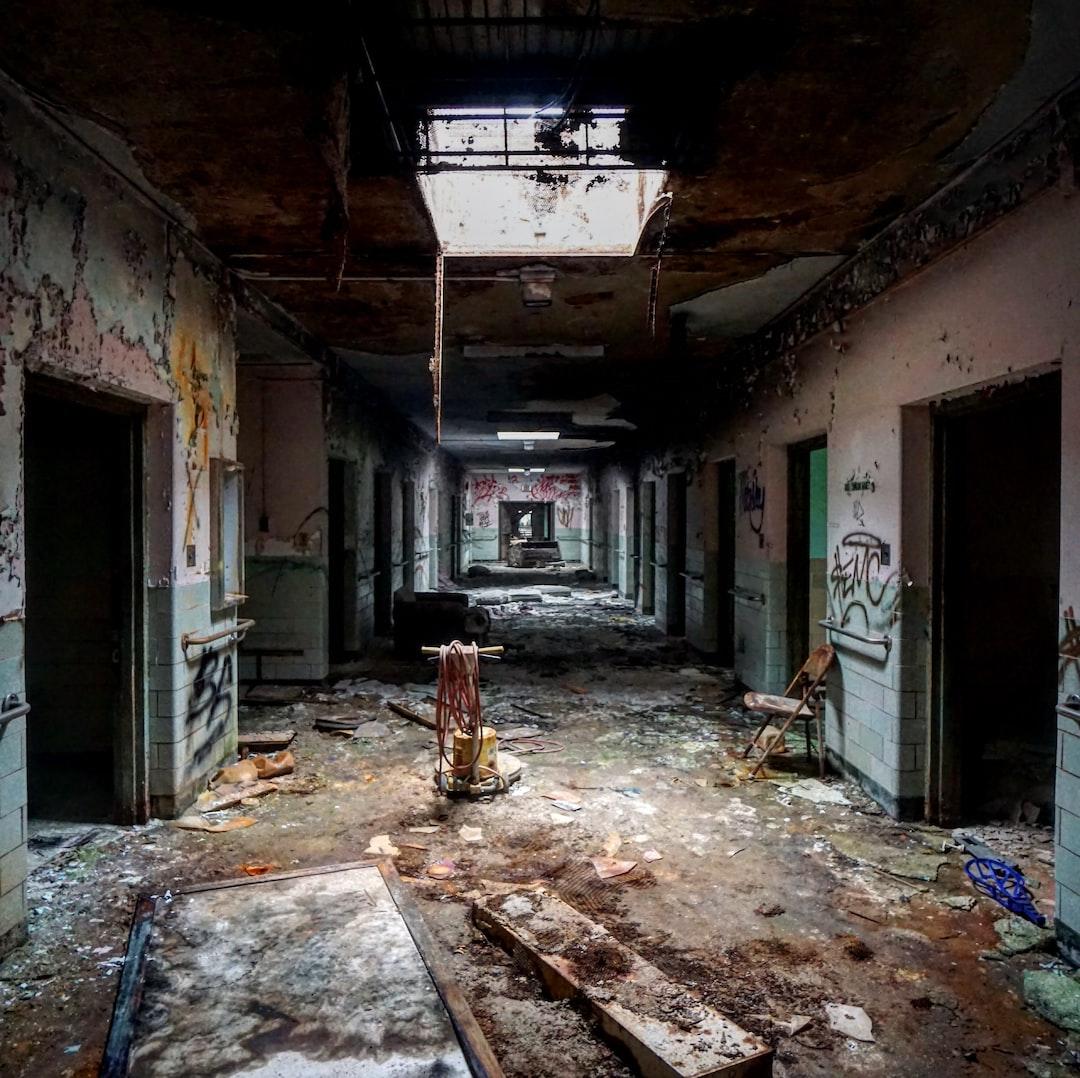 Abandoned Psychiatric Hospital Hallway