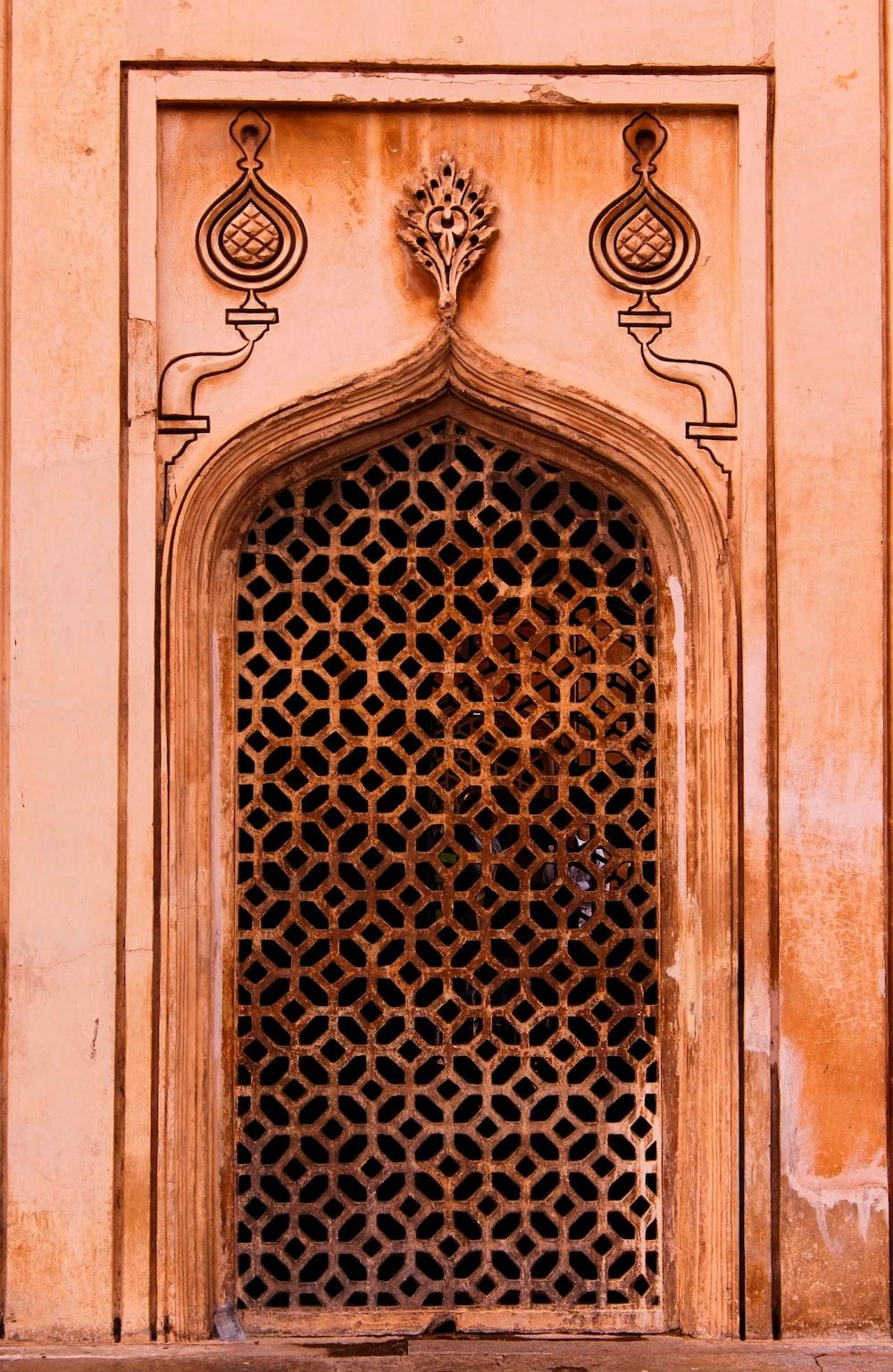 beige concrete door