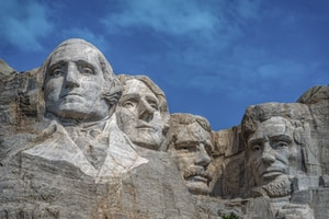 Happiness on Mount Rushmore