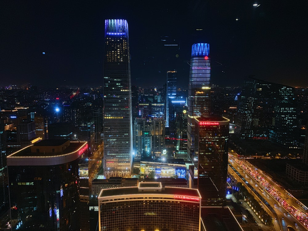 cityscape at nght time