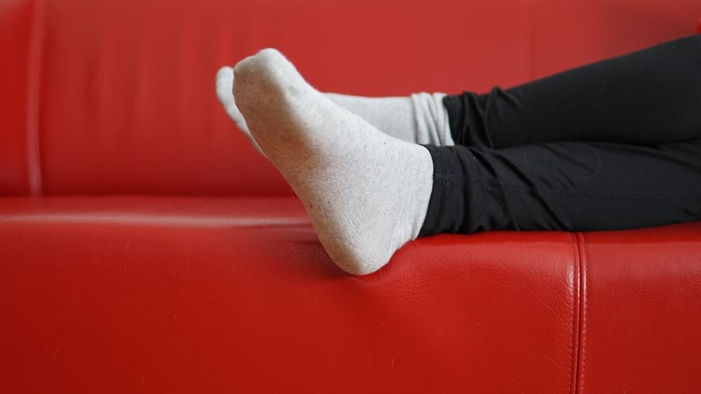 person wearing white socks