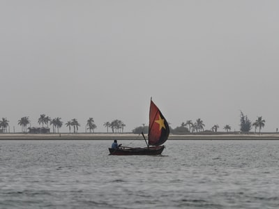 man on sailboat on sea during daytime angola zoom background