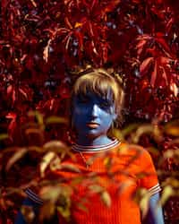 Mirror- The poem.  Why the blood is red Why the sky is blue Why the worry Why the pain Why the colour Why the race  mask stories