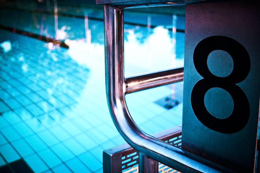 number 8 on pool