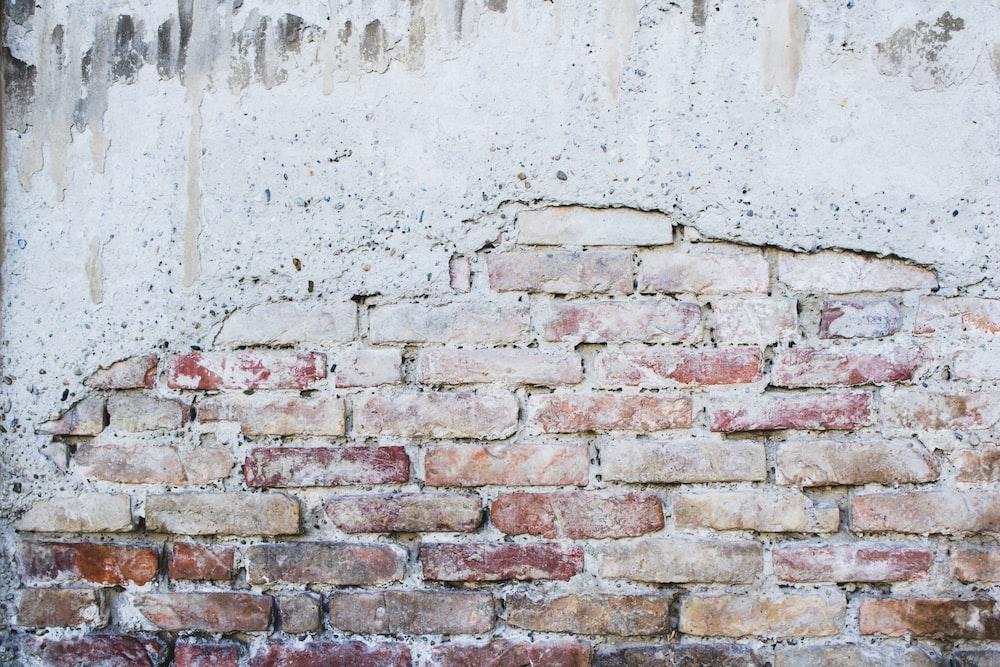 gray concrete bricks wall
