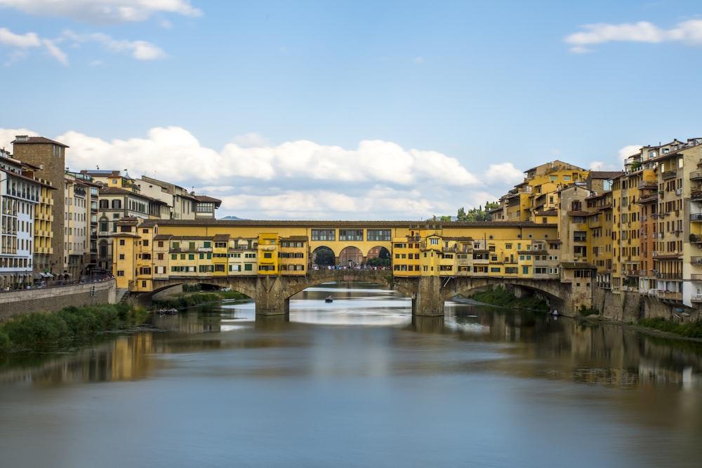 yellow metal bridge during daytime