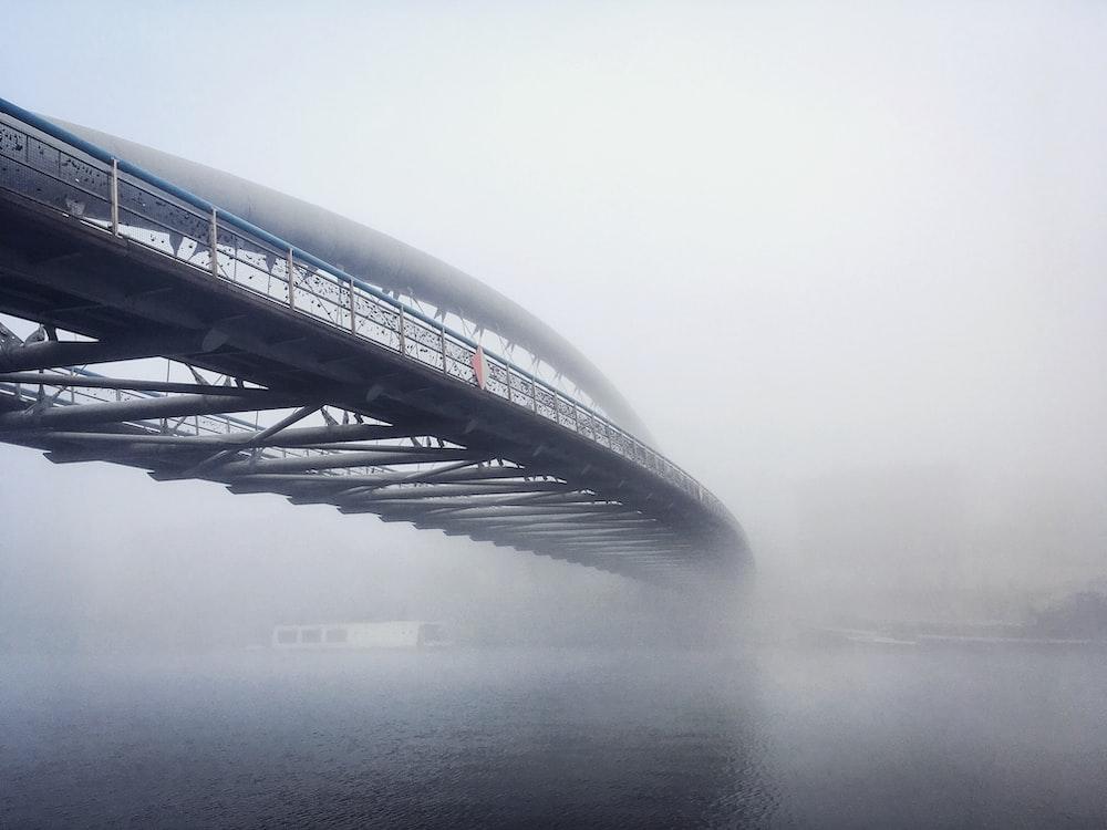 full suspension arch bridge during daytime