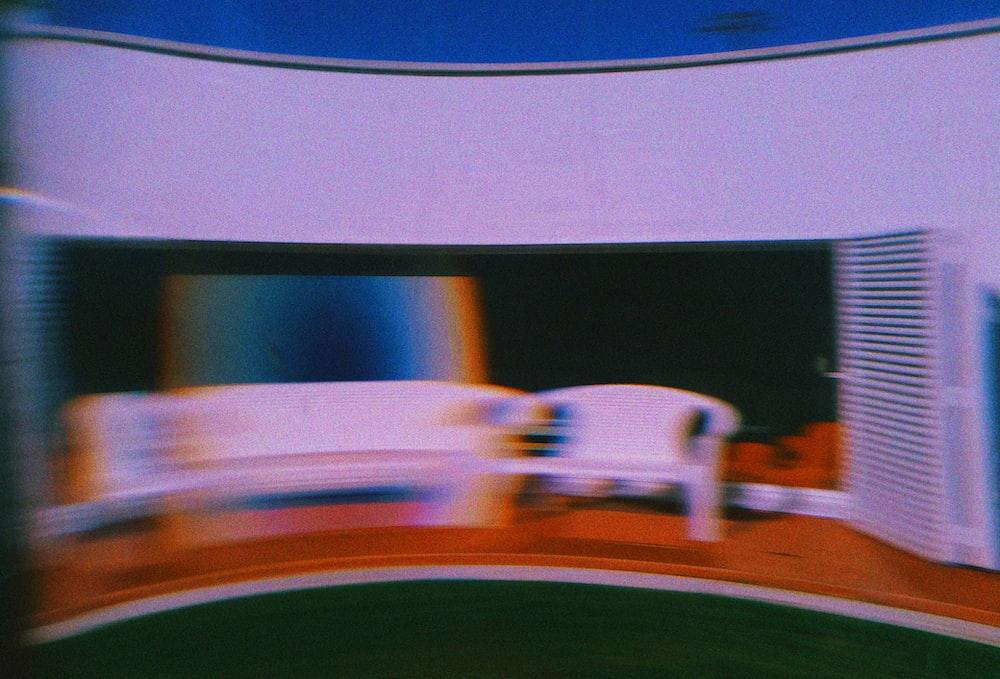 white and black flat screen TV
