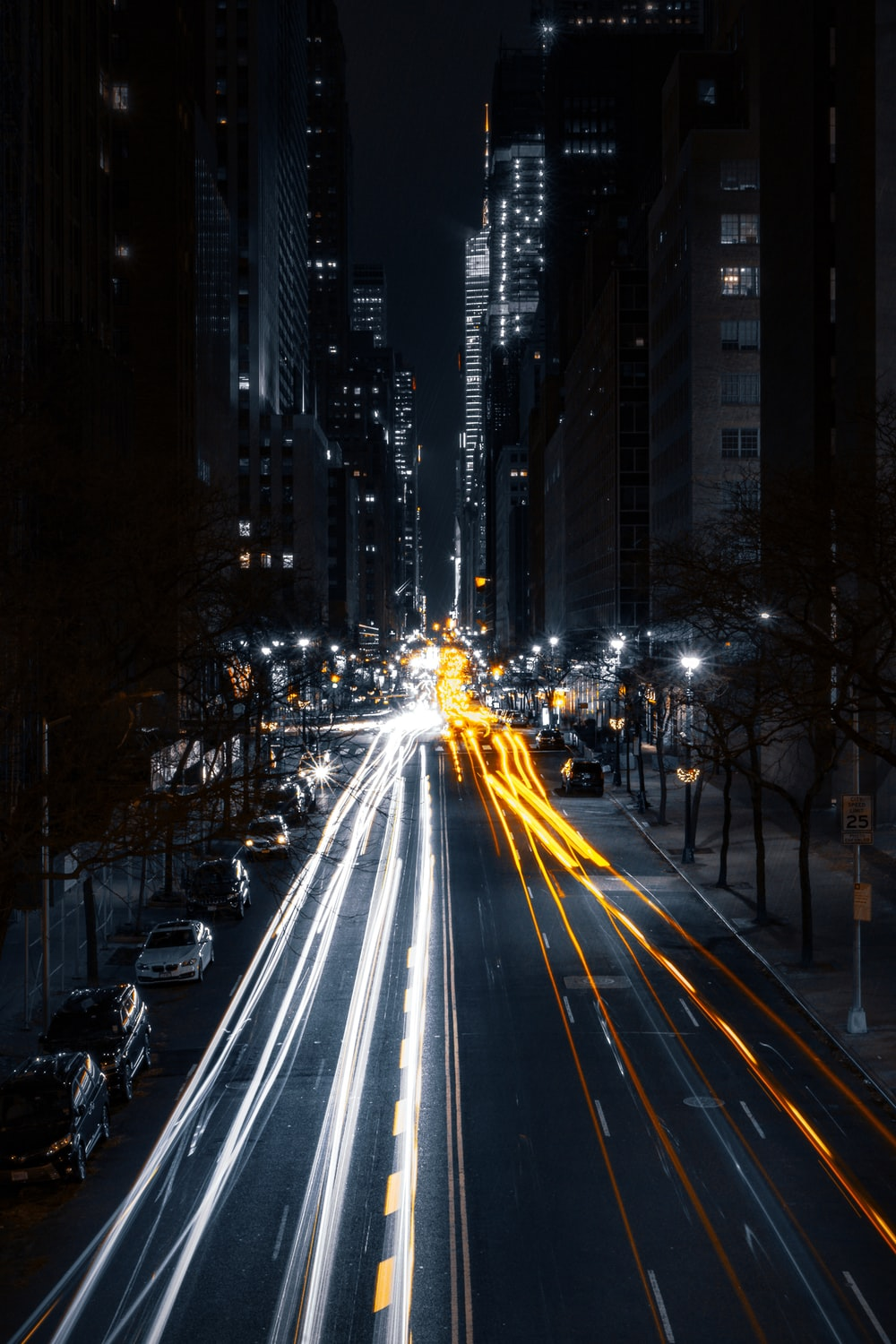 timelapse photography of car lights