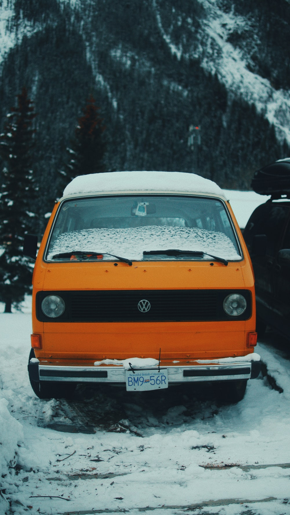 orange Volkswagen vehicle