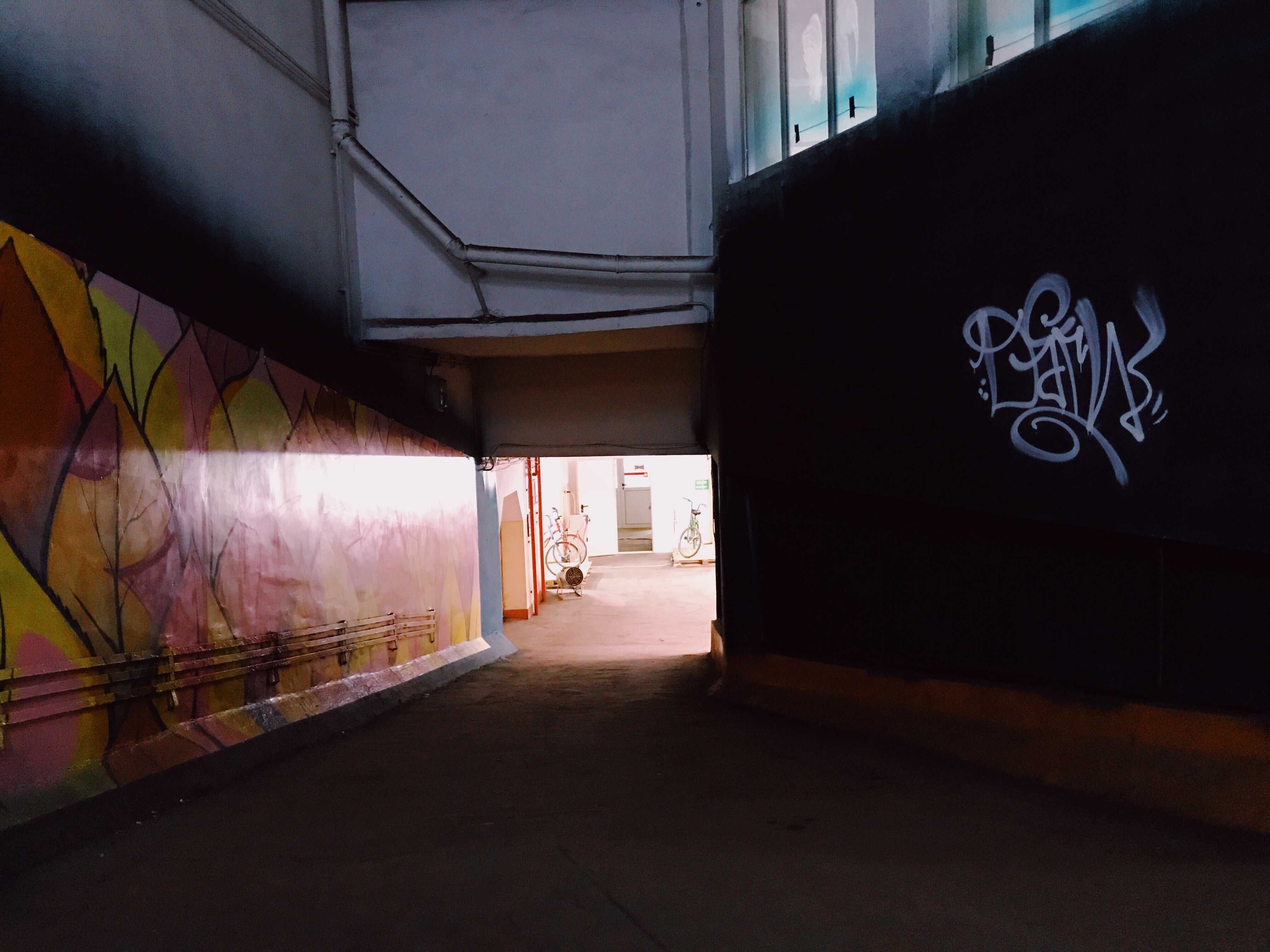 building with graffiti