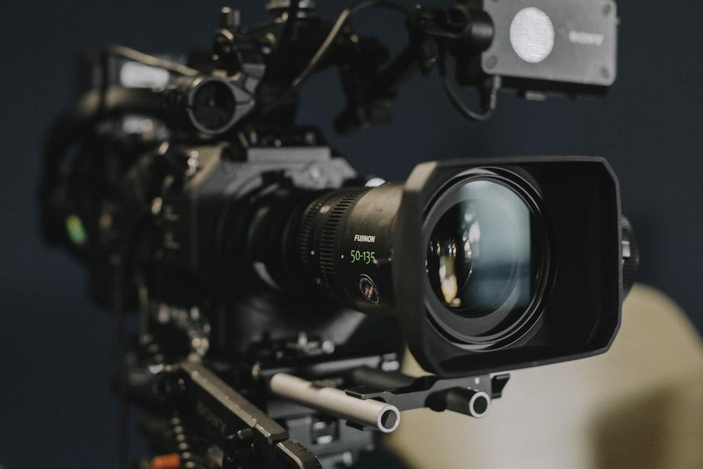 black shoulder-mount camera