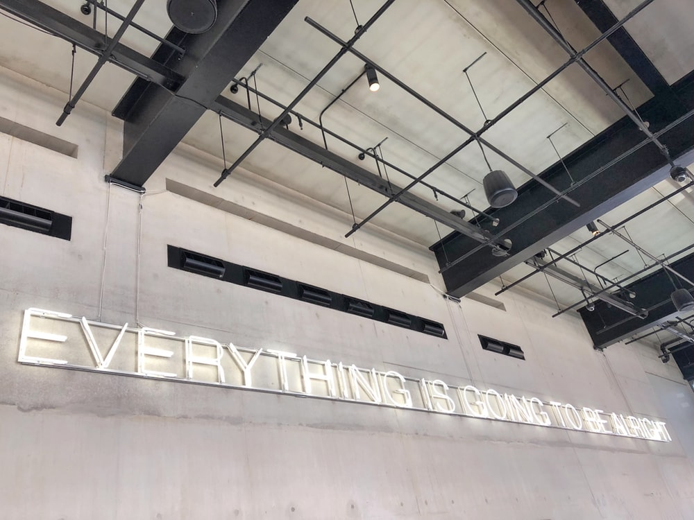 everything is coming to be alright wall text