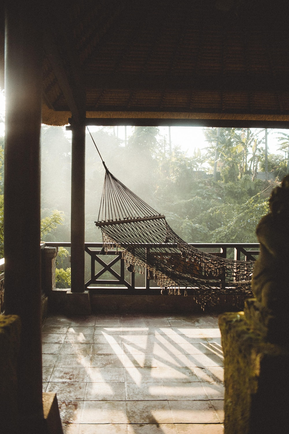 hammock in gazebo