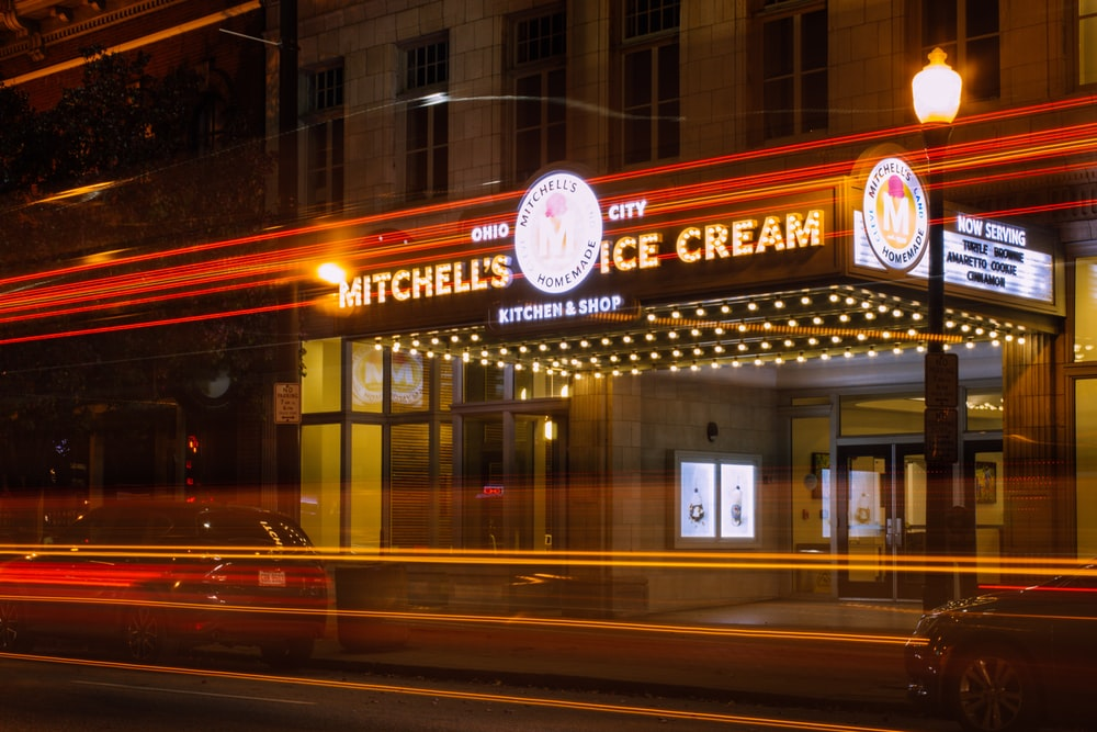 Mitchell's Ice Cream shop opened
