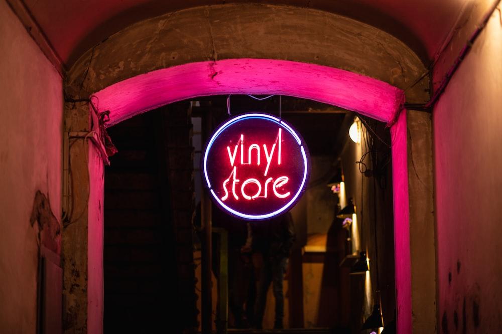 Vinyl Store neon light