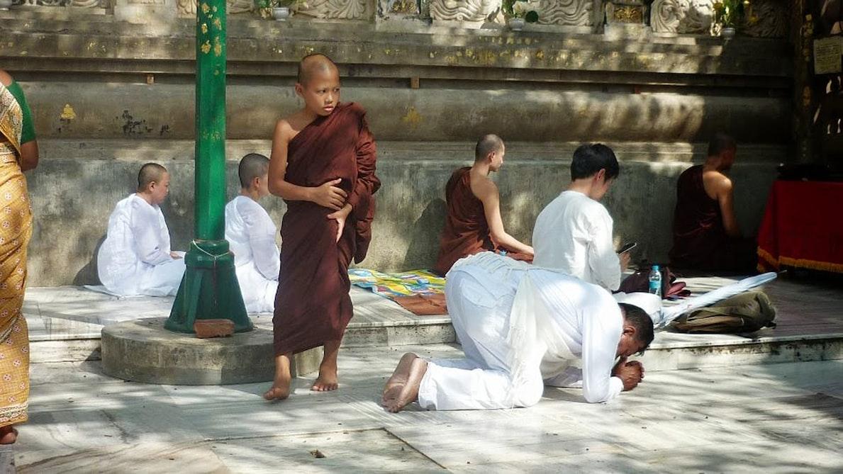 Little monk at Bodh Gaya