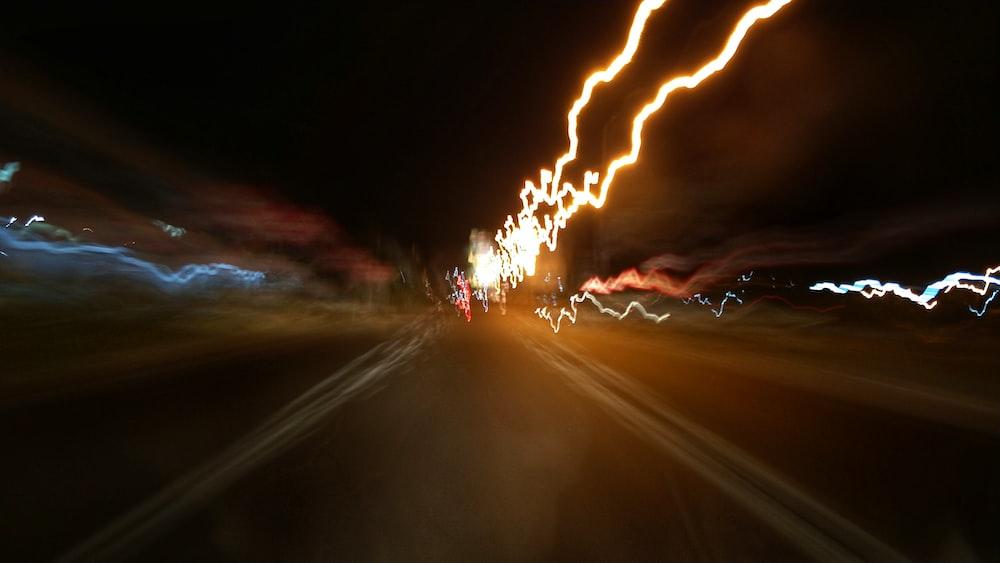 lights on street photo