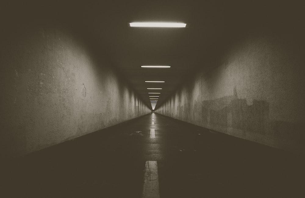empty narrow pathway