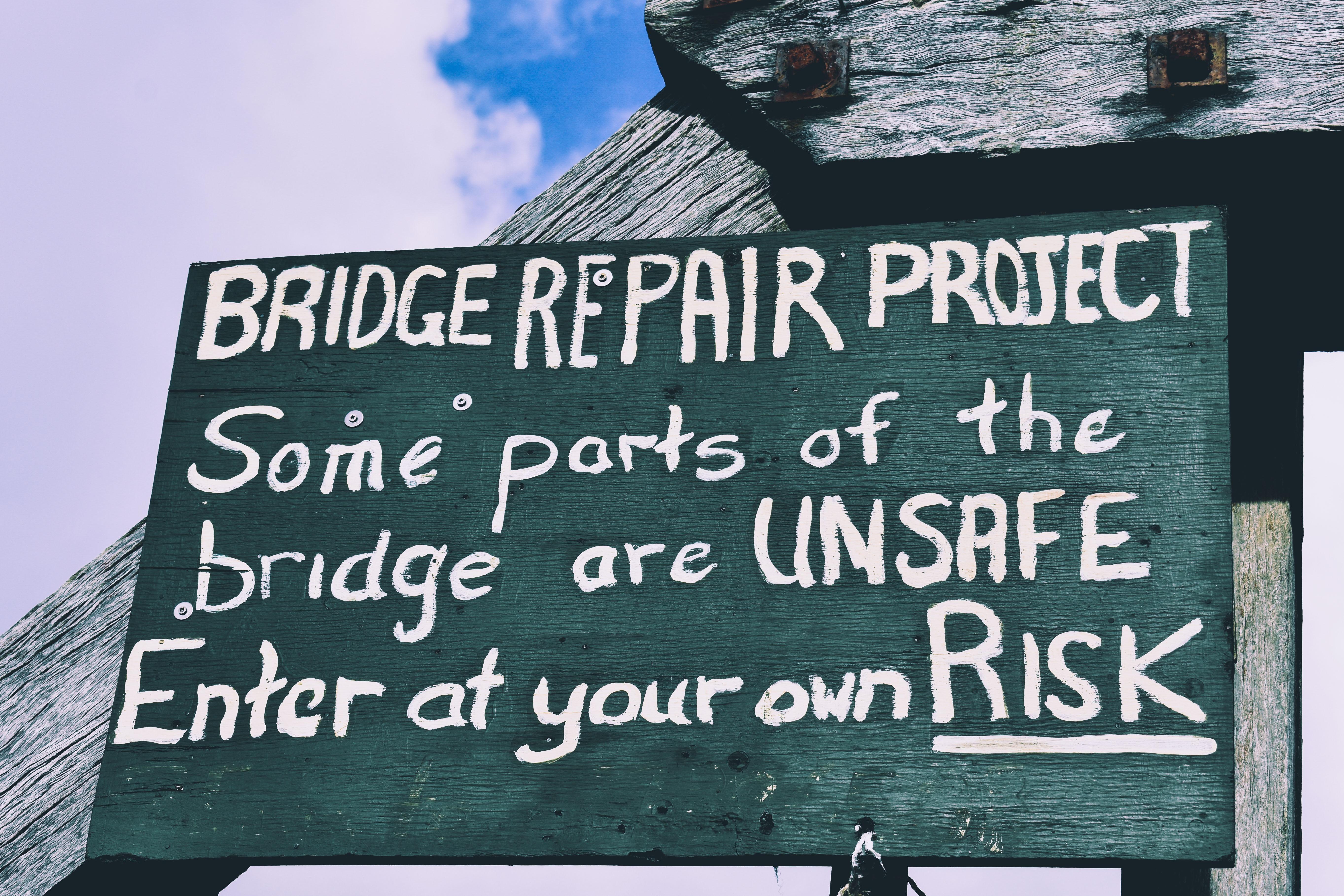 Bridge Repair Project signage