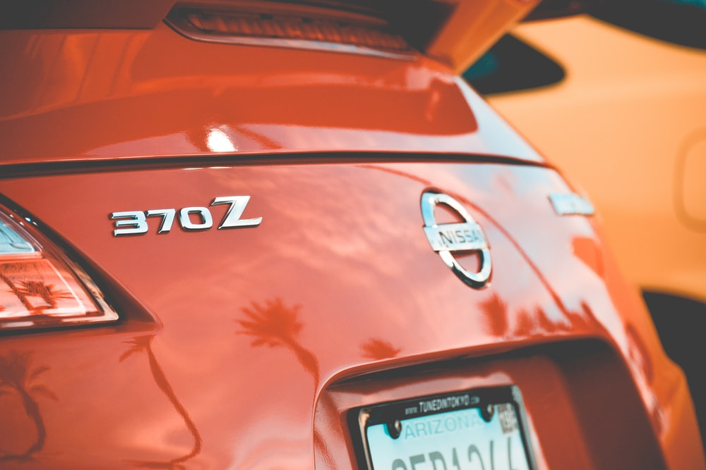red Nissan 370Z
