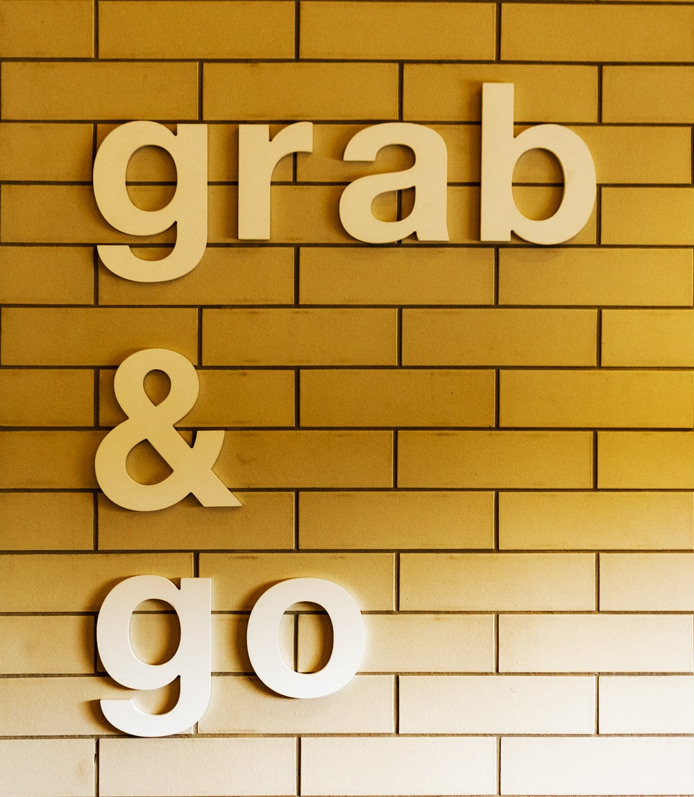 grab and go signage