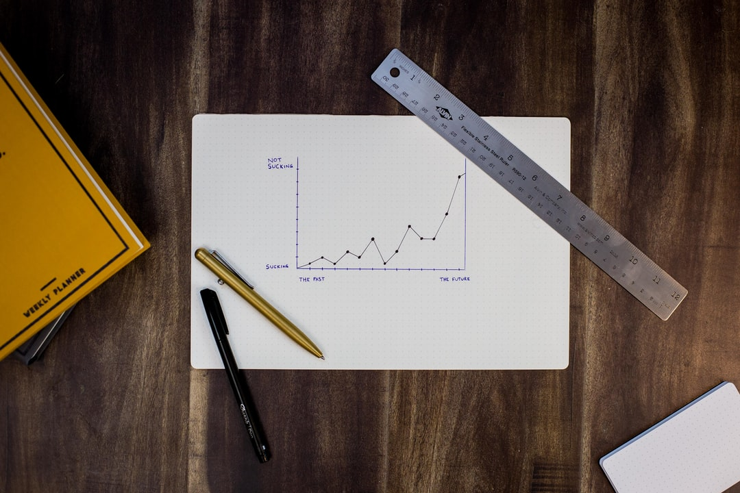 Graph and ruler on a table