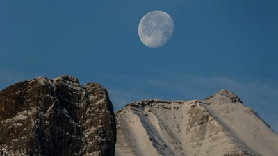 Rundle Mountain Moon