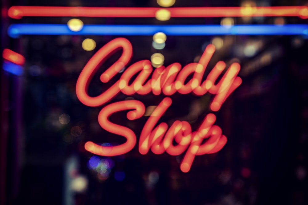 Candy Shop neon signage light