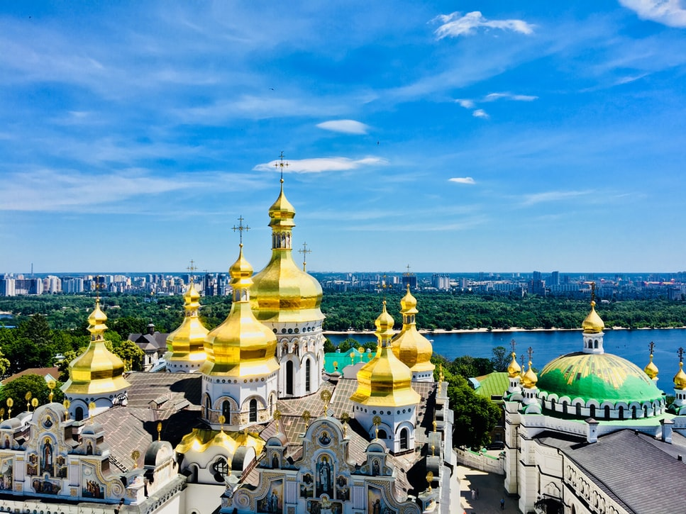 a shot of Saint Michael's Golden-Domed Monastery: Top attractions to cover in Kiev.