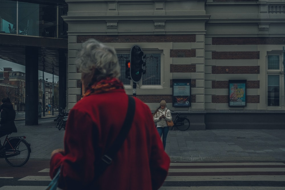 woman passing the street