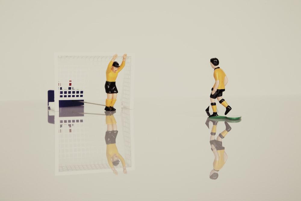 sports player action figure illustration