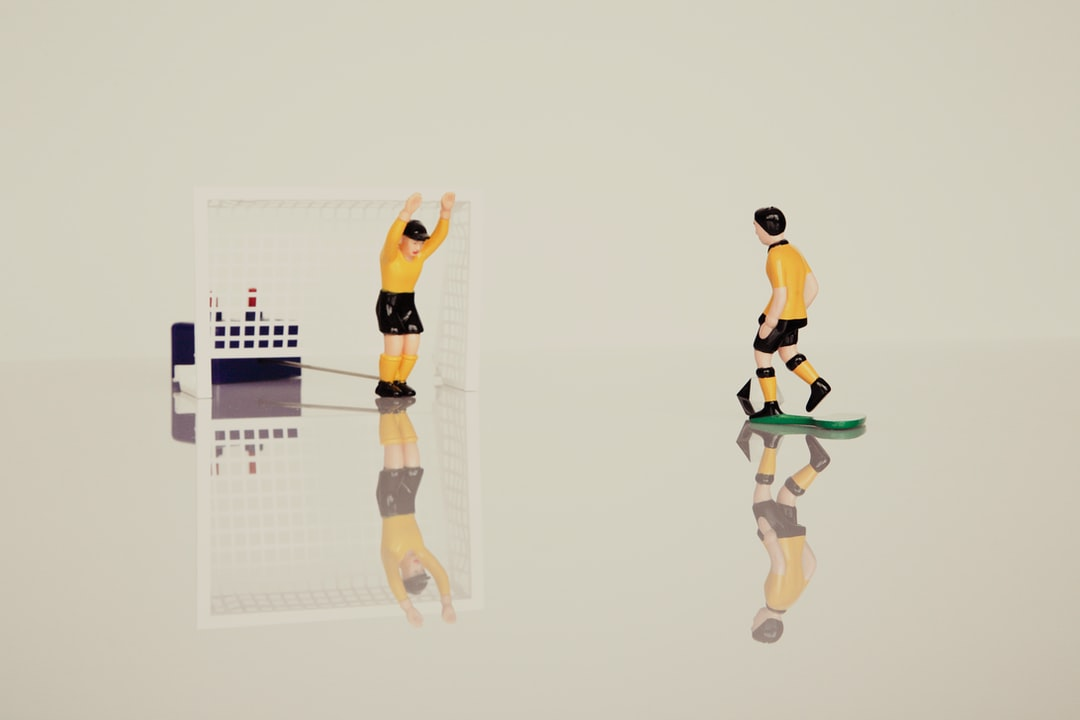 Tipp-Kick is a two-person game that represents a soccer simulation.