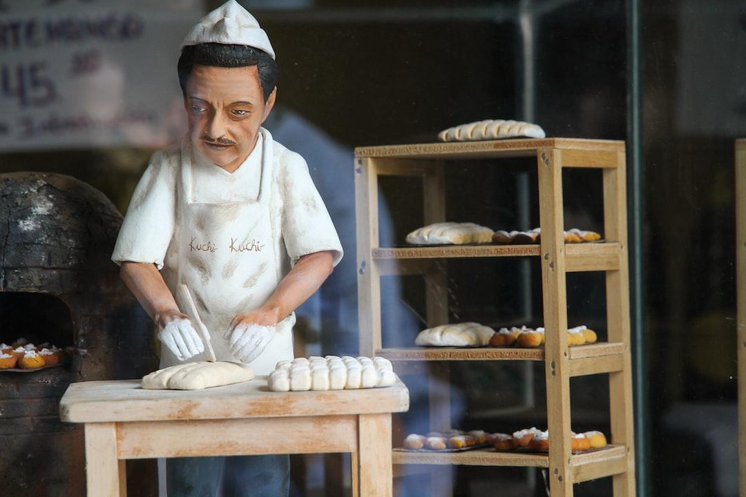 A small figurine in a pastry shop in Antigua, Guatemala.
